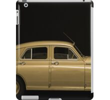retro car side view on a black background iPad Case/Skin