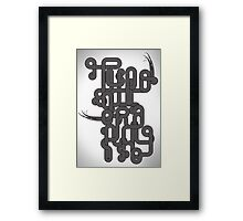 Typographic Graphic Framed Print