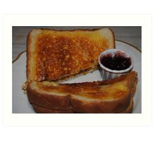 Toast, Butter and Jelly Art Print