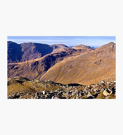 Scafell Pike, Esk Pike, and Bow Fell - The Lake District Photographic Print