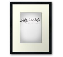 The World of Typography Framed Print