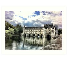 Chenonceau reflected in the River Cher Art Print