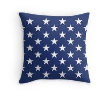USA Flag Stars Throw Pillow