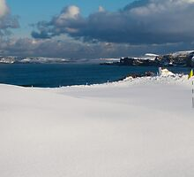 Royal Portrush Golf Club - 5th Green Under Snow by roomccrudden