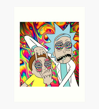 Rick and Morty Eyes Open Trip Art Print