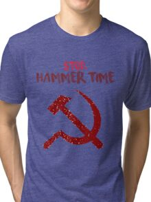 Crappy communist joke. Tri-blend T-Shirt