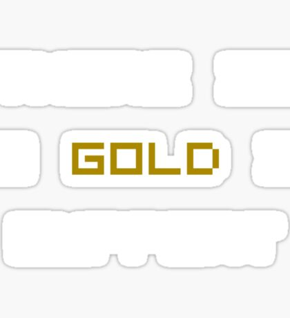 There is no GOLD in SUPPORT (reversed colours) Sticker