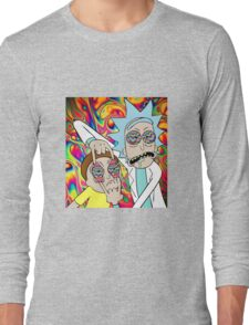 Rick and Morty Eyes Open Trip Long Sleeve T-Shirt