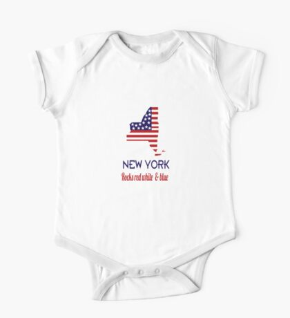 New York Rocks Red White & Blue One Piece - Short Sleeve