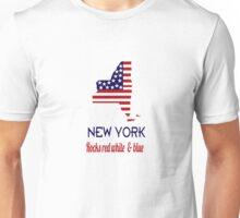 New York Rocks Red White & Blue Unisex T-Shirt