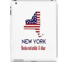 New York Rocks Red White & Blue iPad Case/Skin