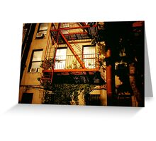Red Fire Escape - East Village - New York City Greeting Card