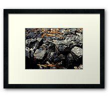 Coal Rocks Framed Print