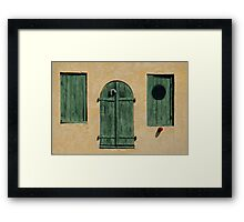 Green Jalousies Framed Print