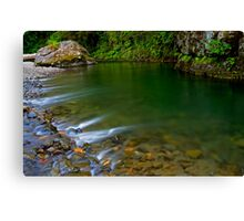 Emerald Waterscape Canvas Print