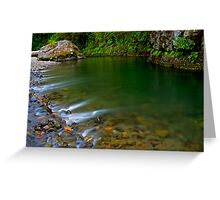 Emerald Waterscape Greeting Card