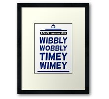 Doctor Who Blue Tardis Typography Design Whovian Quote Framed Print