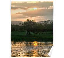 Sunset Over The Mzinene River Poster