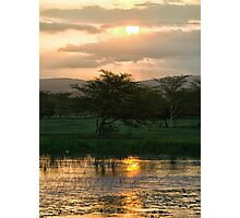 Sunset Over The Mzinene River Photographic Print