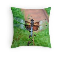 Widow Skimmer Dragonfly - Libellula luctuosa Throw Pillow