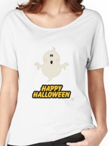 Scary Ghost Happy Halloween Women's Relaxed Fit T-Shirt