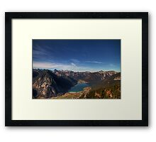 The Achensee below Framed Print