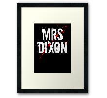 MRS DIXON Framed Print