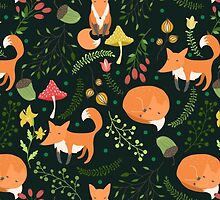 Foxes by JuliaBadeeva
