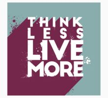 Think Less Live More - PurpleAqua One Piece - Short Sleeve