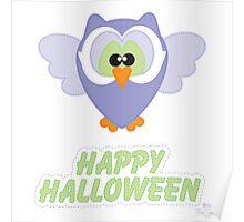 Sweet Owl Happy Halloween Poster