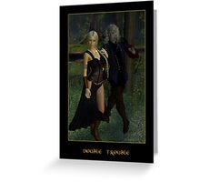 Double Trouble (Mog & Damara) Greeting Card