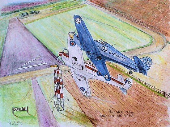 King's Cup Air Race 1950s by Woodie