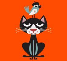 Cat & Bird by Akkurat