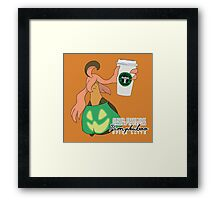 Pumpkaboo Spice Latte Framed Print
