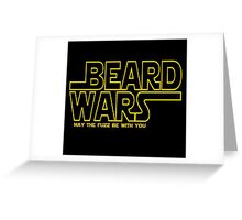 Beard Wars May The Fuzz Be With You Men's Funny Beard Sci-fi T-Shirt Greeting Card