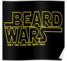 Beard Wars May The Fuzz Be With You Men's Funny Beard Sci-fi T-Shirt Poster