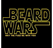 Beard Wars May The Fuzz Be With You Men's Funny Beard Sci-fi T-Shirt Photographic Print