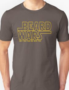 Beard Wars May The Fuzz Be With You Men's Funny Beard Sci-fi T-Shirt T-Shirt