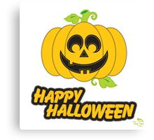 Jack O' Lantern Happy Halloween Canvas Print