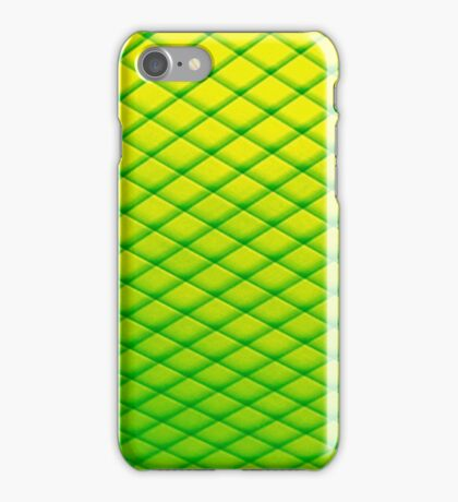 Abstract Art - the Green Fence iPhone Case/Skin