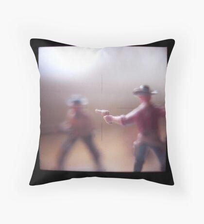 Gunman Throw Pillow