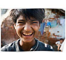 Smiling boy Poster