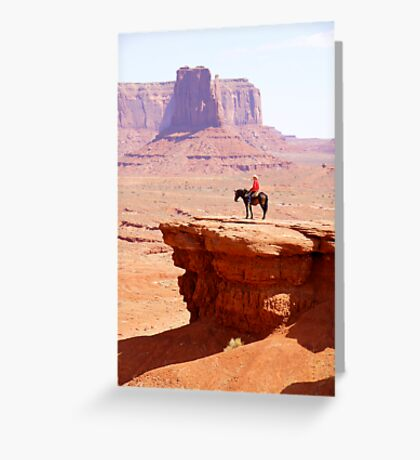 Marlboro Advert - Monument Valley Greeting Card