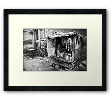 Street Stall Framed Print