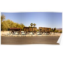 Twenty Mule Team Wagons Poster