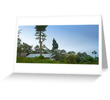 A small village house on Mountain Greeting Card