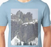 Happy Mountain With Snow And More Unisex T-Shirt
