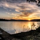 Stage Exit of the Sun - Narrabeen Lakes by Jason Ruth