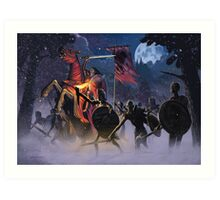 Count Vlad, the Blood Knight Art Print