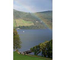 Rainbow at Urquhart Castle, Loch Ness Photographic Print